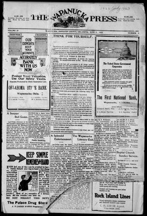 Primary view of The Wapanucka Press (Wapanucka, Okla.), Vol. 22, No. 1, Ed. 1 Friday, June 2, 1922