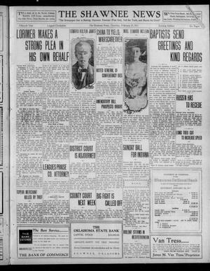 Primary view of object titled 'The Shawnee News (Shawnee, Okla.), Vol. 15, No. 42, Ed. 1 Thursday, February 23, 1911'.