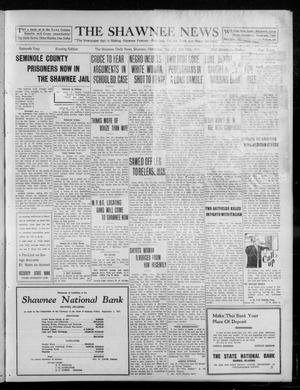 Primary view of object titled 'The Shawnee News (Shawnee, Okla.), Vol. 16, No. 176, Ed. 1 Thursday, October 19, 1911'.