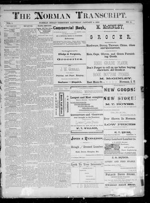 Primary view of The Norman Transcript. (Norman, Indian Terr.), Vol. 01, No. 11, Ed. 1 Saturday, January 4, 1890