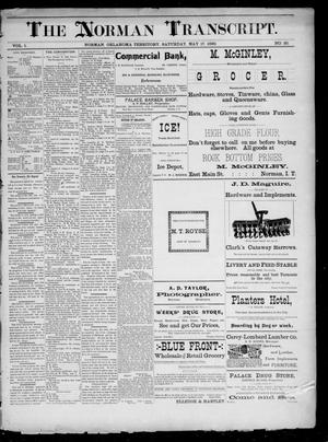 Primary view of The Norman Transcript. (Norman, Okla. Terr.), Vol. 01, No. 30, Ed. 1 Saturday, May 17, 1890