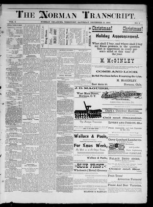 Primary view of object titled 'The Norman Transcript. (Norman, Okla. Terr.), Vol. 02, No. 08, Ed. 1 Saturday, December 13, 1890'.