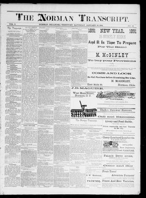 Primary view of object titled 'The Norman Transcript. (Norman, Okla. Terr.), Vol. 02, No. 12, Ed. 1 Saturday, January 10, 1891'.