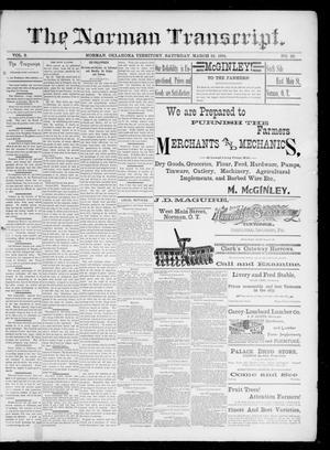 Primary view of The Norman Transcript. (Norman, Okla. Terr.), Vol. 02, No. 22, Ed. 1 Saturday, March 21, 1891
