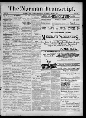 Primary view of object titled 'The Norman Transcript. (Norman, Okla. Terr.), Vol. 02, No. 28, Ed. 1 Saturday, May 2, 1891'.