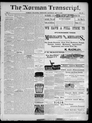 Primary view of object titled 'The Norman Transcript. (Norman, Okla. Terr.), Vol. 02, No. 30, Ed. 1 Saturday, May 16, 1891'.