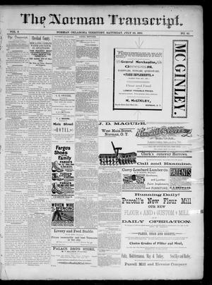 Primary view of The Norman Transcript. (Norman, Okla. Terr.), Vol. 02, No. 40, Ed. 1 Saturday, July 25, 1891