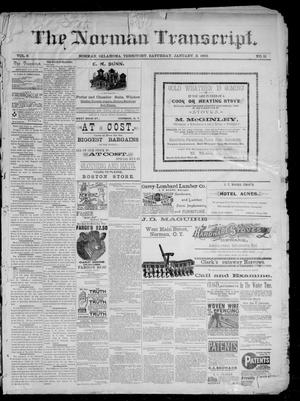 Primary view of The Norman Transcript. (Norman, Okla. Terr.), Vol. 03, No. 11, Ed. 1 Saturday, January 2, 1892