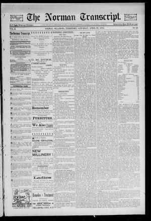 Primary view of object titled 'The Norman Transcript. (Norman, Okla. Terr.), Vol. 03, No. 29, Ed. 1 Saturday, April 30, 1892'.