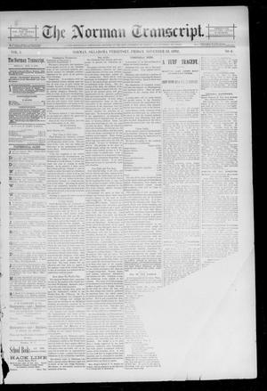 Primary view of The Norman Transcript. (Norman, Okla. Terr.), Vol. 04, No. 06, Ed. 1 Friday, November 18, 1892