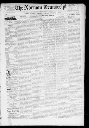Primary view of object titled 'The Norman Transcript. (Norman, Okla. Terr.), Vol. 04, No. 49, Ed. 1 Friday, September 8, 1893'.