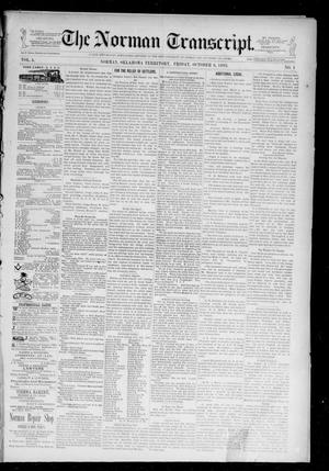 Primary view of object titled 'The Norman Transcript. (Norman, Okla. Terr.), Vol. 05, No. 01, Ed. 1 Friday, October 6, 1893'.