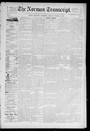 Primary view of The Norman Transcript. (Norman, Okla. Terr.), Vol. 05, No. 03, Ed. 1 Friday, October 20, 1893
