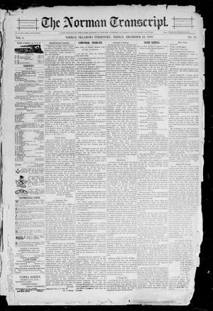 Primary view of object titled 'The Norman Transcript. (Norman, Okla. Terr.), Vol. 05, No. 13, Ed. 1 Friday, December 29, 1893'.