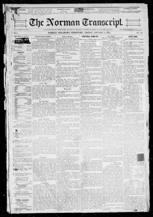 Primary view of object titled 'The Norman Transcript. (Norman, Okla. Terr.), Vol. 05, No. 14, Ed. 1 Friday, January 5, 1894'.