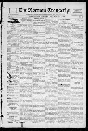Primary view of object titled 'The Norman Transcript. (Norman, Okla. Terr.), Vol. 05, No. 18, Ed. 1 Friday, February 2, 1894'.