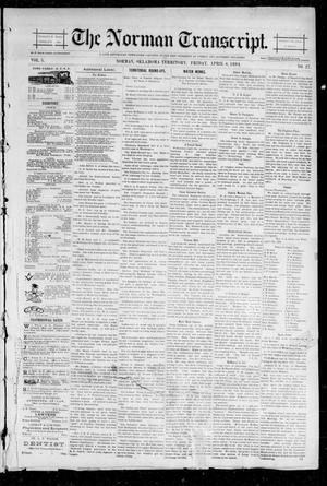 Primary view of object titled 'The Norman Transcript. (Norman, Okla. Terr.), Vol. 05, No. 27, Ed. 1 Friday, April 6, 1894'.