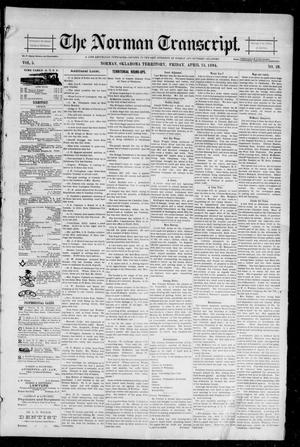 Primary view of object titled 'The Norman Transcript. (Norman, Okla. Terr.), Vol. 05, No. 28, Ed. 1 Friday, April 13, 1894'.
