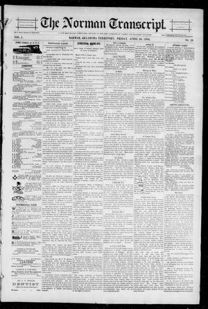 Primary view of object titled 'The Norman Transcript. (Norman, Okla. Terr.), Vol. 05, No. 29, Ed. 1 Friday, April 20, 1894'.