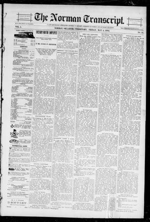 Primary view of object titled 'The Norman Transcript. (Norman, Okla. Terr.), Vol. 05, No. 31, Ed. 1 Friday, May 4, 1894'.