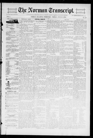 Primary view of object titled 'The Norman Transcript. (Norman, Okla. Terr.), Vol. 05, No. 39, Ed. 1 Friday, June 29, 1894'.