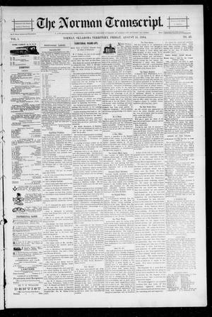 Primary view of object titled 'The Norman Transcript. (Norman, Okla. Terr.), Vol. 05, No. 48, Ed. 1 Friday, August 31, 1894'.