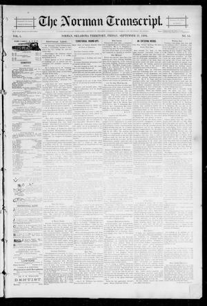 Primary view of object titled 'The Norman Transcript. (Norman, Okla. Terr.), Vol. 05, No. 51, Ed. 1 Friday, September 21, 1894'.