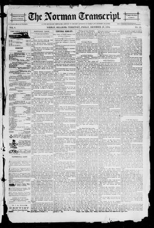 Primary view of object titled 'The Norman Transcript. (Norman, Okla. Terr.), Vol. 06, No. 13, Ed. 1 Friday, December 28, 1894'.