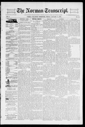 Primary view of object titled 'The Norman Transcript. (Norman, Okla. Terr.), Vol. 06, No. 15, Ed. 1 Friday, January 11, 1895'.