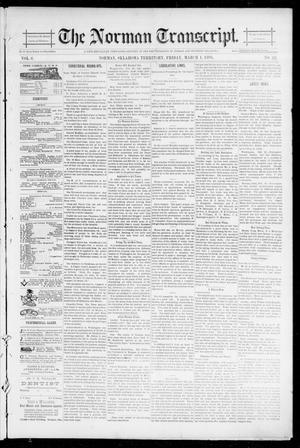 Primary view of object titled 'The Norman Transcript. (Norman, Okla. Terr.), Vol. 06, No. 22, Ed. 1 Friday, March 1, 1895'.