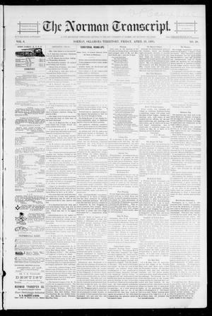 Primary view of object titled 'The Norman Transcript. (Norman, Okla. Terr.), Vol. 06, No. 30, Ed. 1 Friday, April 26, 1895'.