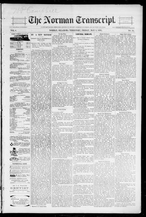 Primary view of object titled 'The Norman Transcript. (Norman, Okla. Terr.), Vol. 06, No. 31, Ed. 1 Friday, May 3, 1895'.