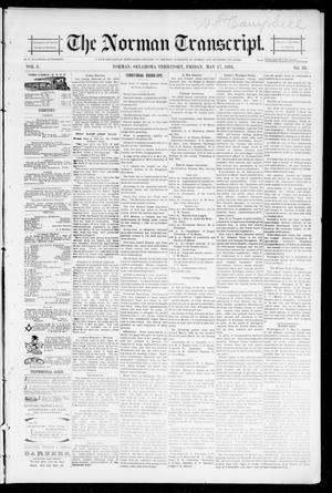 Primary view of object titled 'The Norman Transcript. (Norman, Okla. Terr.), Vol. 06, No. 33, Ed. 1 Friday, May 17, 1895'.