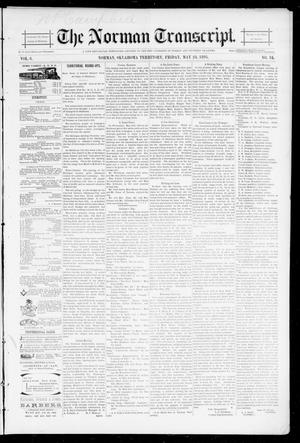 Primary view of object titled 'The Norman Transcript. (Norman, Okla. Terr.), Vol. 06, No. 34, Ed. 1 Friday, May 24, 1895'.