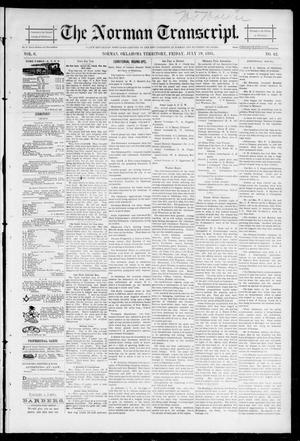 Primary view of object titled 'The Norman Transcript. (Norman, Okla. Terr.), Vol. 06, No. 42, Ed. 1 Friday, July 19, 1895'.
