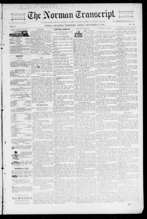 Primary view of object titled 'The Norman Transcript. (Norman, Okla. Terr.), Vol. 06, No. 50, Ed. 1 Friday, September 13, 1895'.