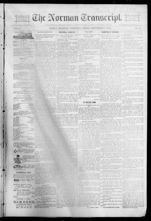 Primary view of object titled 'The Norman Transcript. (Norman, Okla. Terr.), Vol. 06, No. 52, Ed. 1 Friday, September 27, 1895'.