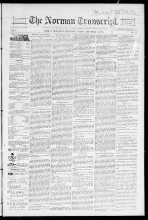 Primary view of object titled 'The Norman Transcript. (Norman, Okla. Terr.), Vol. 07, No. 10, Ed. 1 Friday, December 6, 1895'.