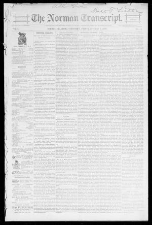 Primary view of object titled 'The Norman Transcript. (Norman, Okla. Terr.), Vol. 07, No. 14, Ed. 1 Friday, January 3, 1896'.