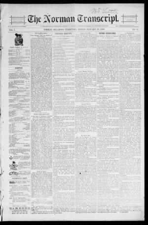Primary view of object titled 'The Norman Transcript. (Norman, Okla. Terr.), Vol. 07, No. 15, Ed. 1 Friday, January 10, 1896'.