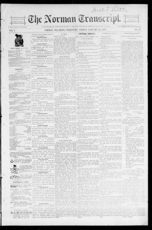 Primary view of object titled 'The Norman Transcript. (Norman, Okla. Terr.), Vol. 07, No. 17, Ed. 1 Friday, January 24, 1896'.