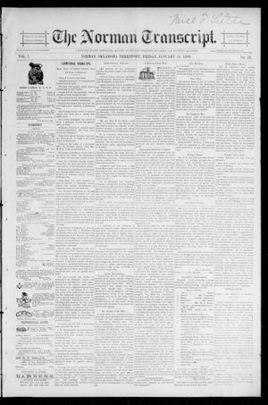 Primary view of object titled 'The Norman Transcript. (Norman, Okla. Terr.), Vol. 07, No. 18, Ed. 1 Friday, January 31, 1896'.