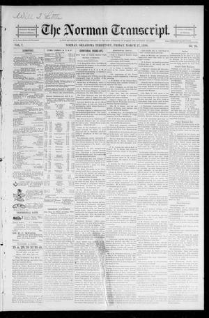 Primary view of object titled 'The Norman Transcript. (Norman, Okla. Terr.), Vol. 07, No. 26, Ed. 1 Friday, March 27, 1896'.