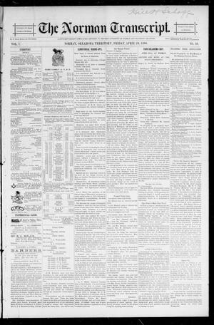 Primary view of object titled 'The Norman Transcript. (Norman, Okla. Terr.), Vol. 07, No. 30, Ed. 1 Friday, April 24, 1896'.