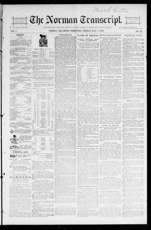 Primary view of The Norman Transcript. (Norman, Okla. Terr.), Vol. 07, No. 31, Ed. 1 Friday, May 1, 1896
