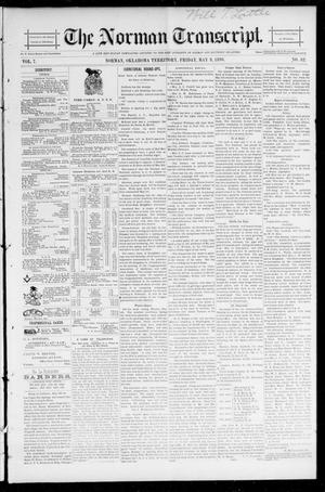 Primary view of object titled 'The Norman Transcript. (Norman, Okla. Terr.), Vol. 07, No. 32, Ed. 1 Friday, May 8, 1896'.