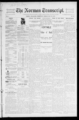 Primary view of object titled 'The Norman Transcript. (Norman, Okla. Terr.), Vol. 07, No. 35, Ed. 1 Friday, May 29, 1896'.