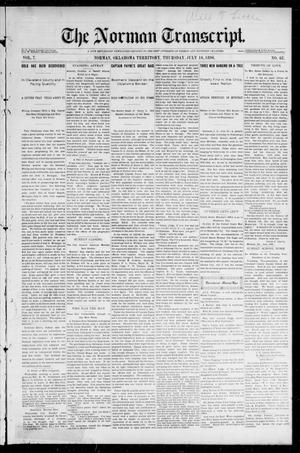 Primary view of object titled 'The Norman Transcript. (Norman, Okla. Terr.), Vol. 07, No. 42, Ed. 1 Friday, July 17, 1896'.
