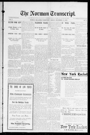Primary view of object titled 'The Norman Transcript. (Norman, Okla. Terr.), Vol. 08, No. 11, Ed. 1 Friday, December 11, 1896'.