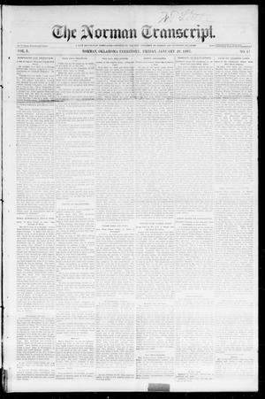 Primary view of The Norman Transcript. (Norman, Okla. Terr.), Vol. 08, No. 17, Ed. 1 Friday, January 29, 1897
